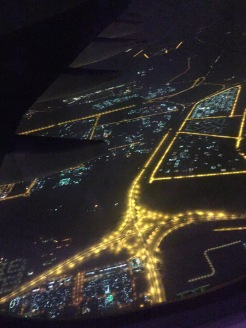 Im Landeanflug auf Abu Dhabi :)